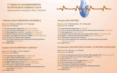 1° corso di aggiornamento in patologia cardiaca 2019: 22,4 Crediti ECM