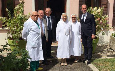 Il presidente della Regione Veneto Dott. Luca Zaia in visita a Villa Salus
