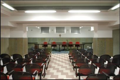 La Sala Conferenze dell' Ospedale, intitolata al Dr. Carlo Weisz